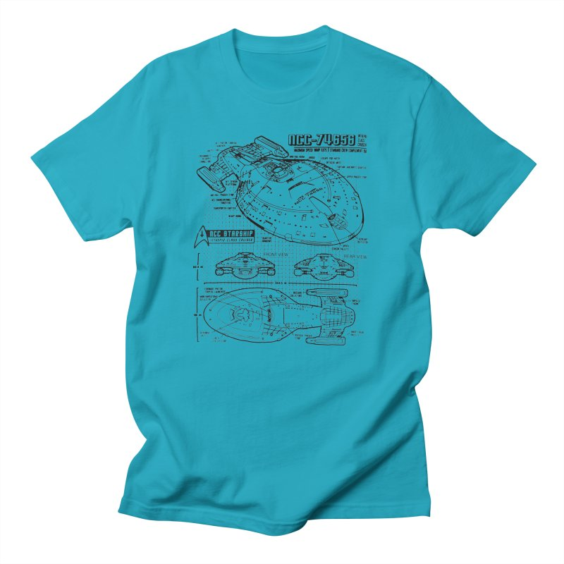 USS Voyager NCC-74656 blueprint Women's Unisex T-Shirt by To Boldly Merch