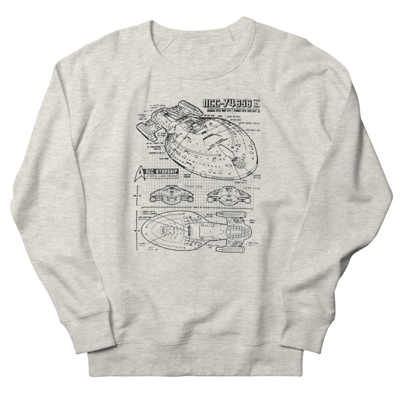 USS Voyager NCC-74656 blueprint Women's Sweatshirt by To Boldly Merch