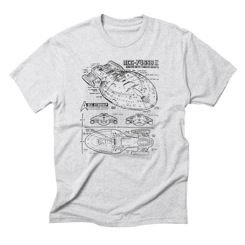 USS Voyager NCC-74656 blueprint Men's Triblend T-Shirt by To Boldly Merch