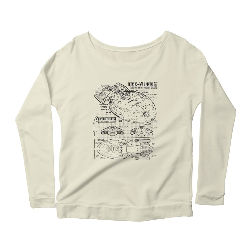USS Voyager NCC-74656 blueprint Women's Longsleeve Scoopneck  by To Boldly Merch