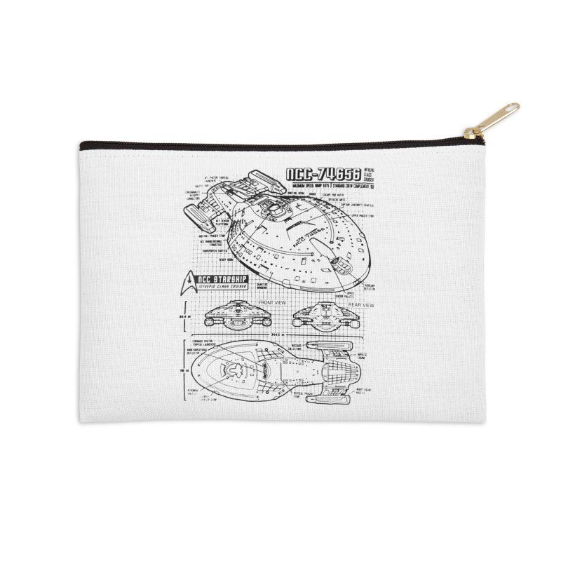 USS Voyager NCC-74656 blueprint Accessories Zip Pouch by To Boldly Merch