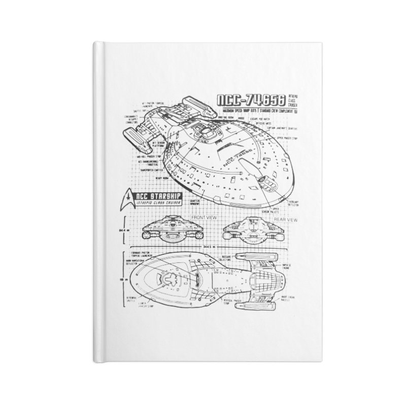 USS Voyager NCC-74656 blueprint Accessories Notebook by To Boldly Merch