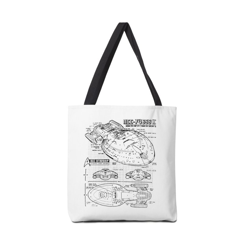 USS Voyager NCC-74656 blueprint Accessories Bag by To Boldly Merch