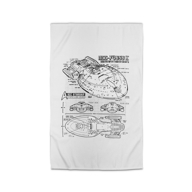 USS Voyager NCC-74656 blueprint Home Rug by To Boldly Merch