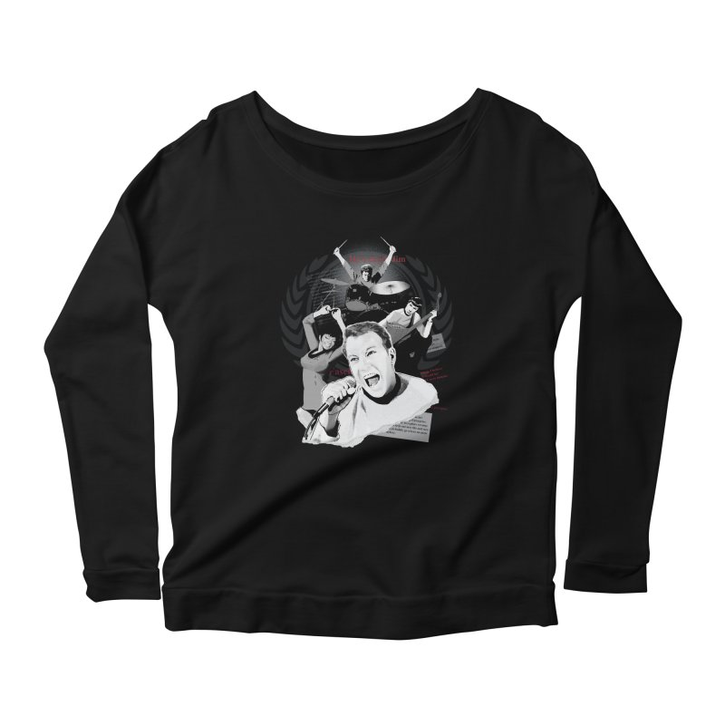 Star Trek TOS Band Women's Longsleeve Scoopneck  by To Boldly Merch