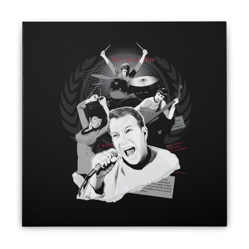 Star Trek TOS Band Home Stretched Canvas by To Boldly Merch