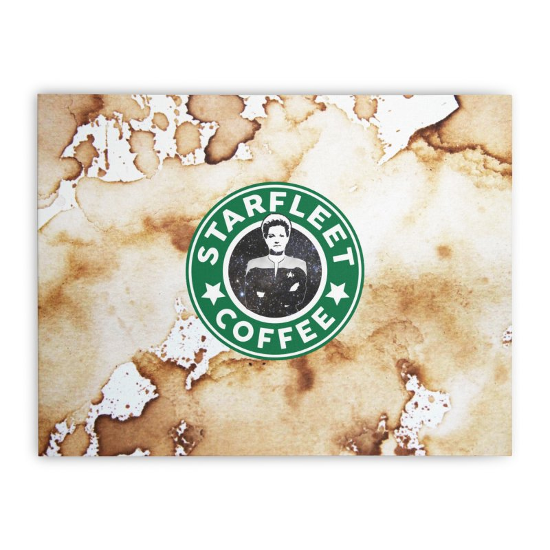 Janeway's Starfleet Coffee Home Stretched Canvas by To Boldly Merch