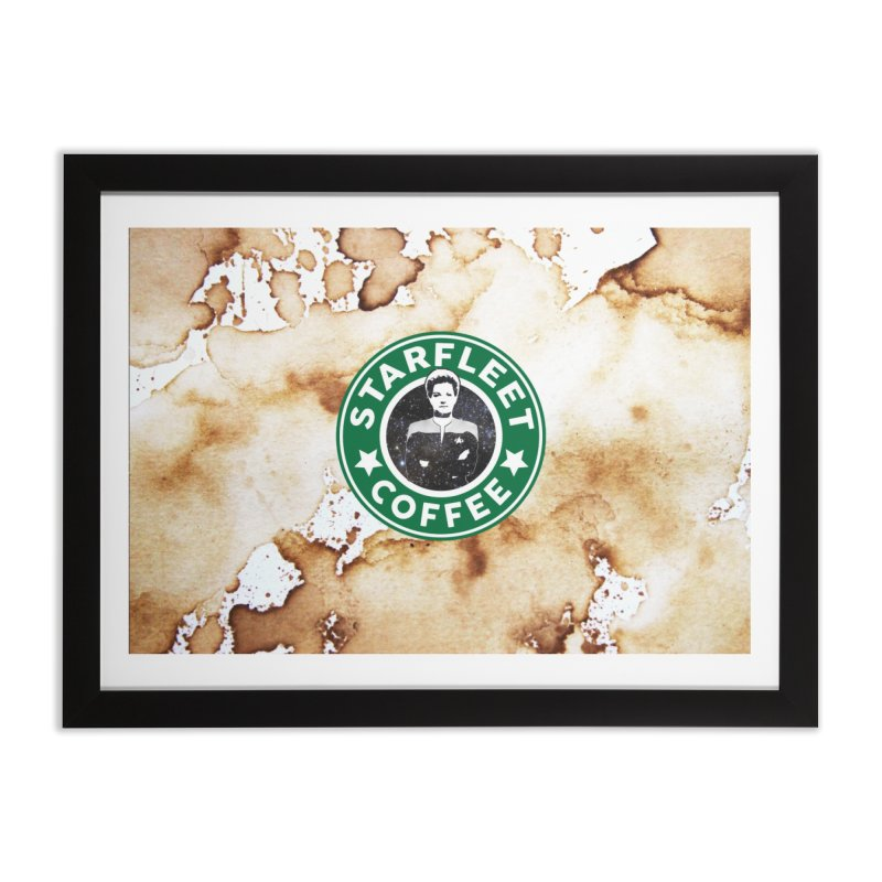 Janeway's Starfleet Coffee Home Framed Fine Art Print by To Boldly Merch