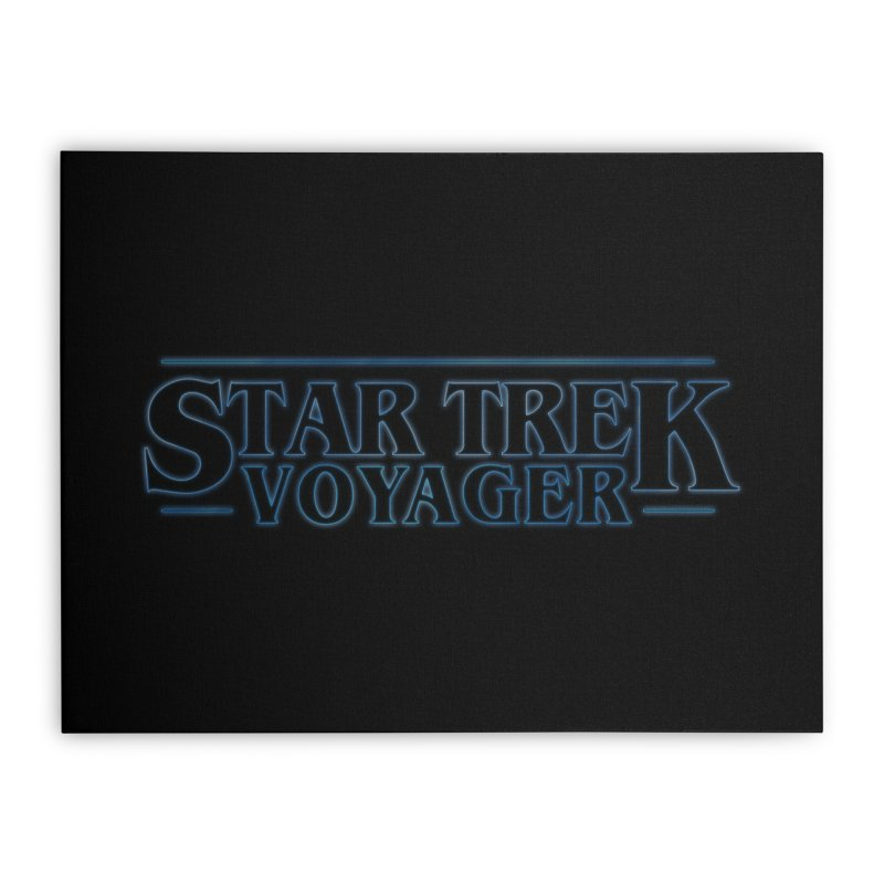 Stranger Trek Voyager Home Stretched Canvas by To Boldly Merch