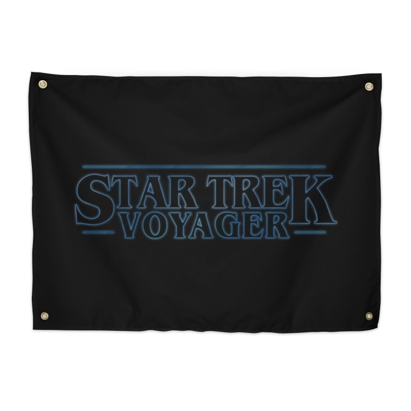 Stranger Trek Voyager Home Tapestry by To Boldly Merch