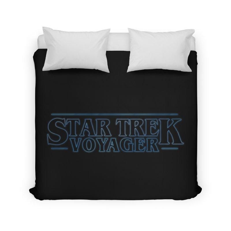 Stranger Trek Voyager Home Duvet by To Boldly Merch