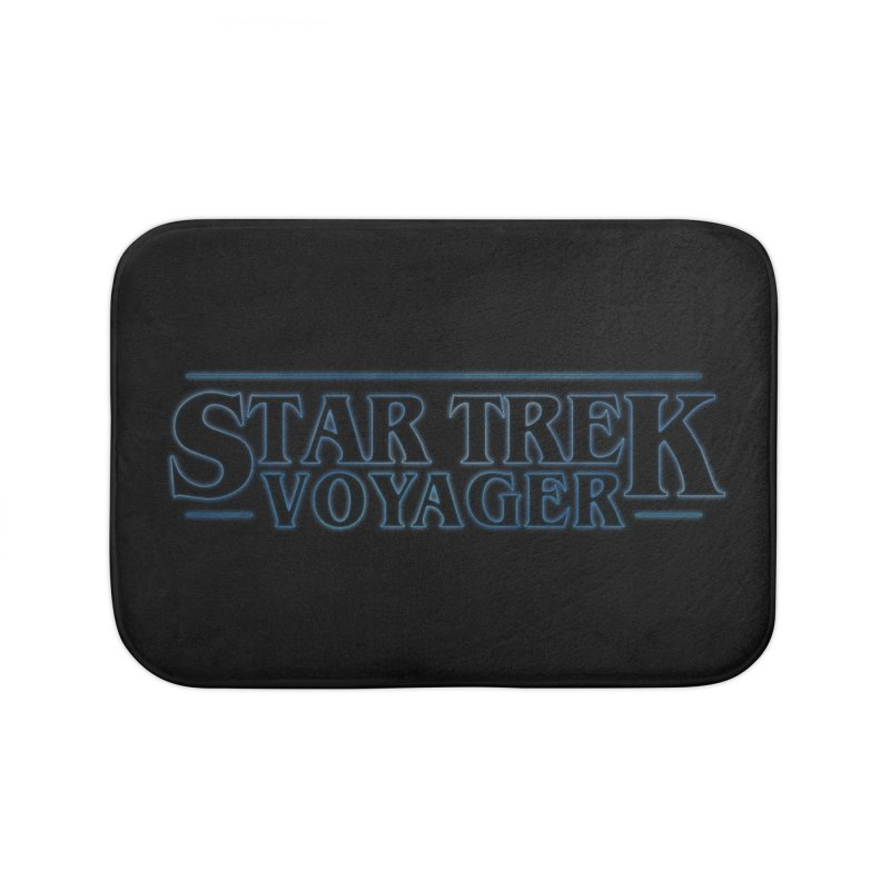 Stranger Trek Voyager Home Bath Mat by To Boldly Merch