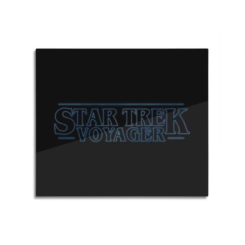 Stranger Trek Voyager Home Mounted Aluminum Print by To Boldly Merch