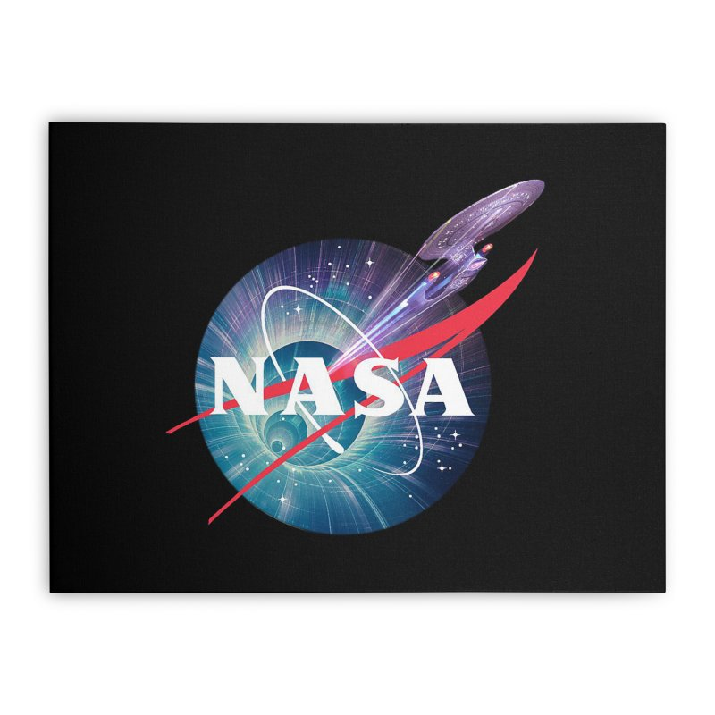 NASA Trek: The Next Generation Home Stretched Canvas by To Boldly Merch