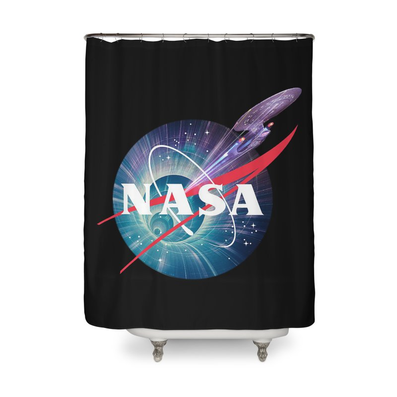 NASA Trek: The Next Generation Home Shower Curtain by To Boldly Merch