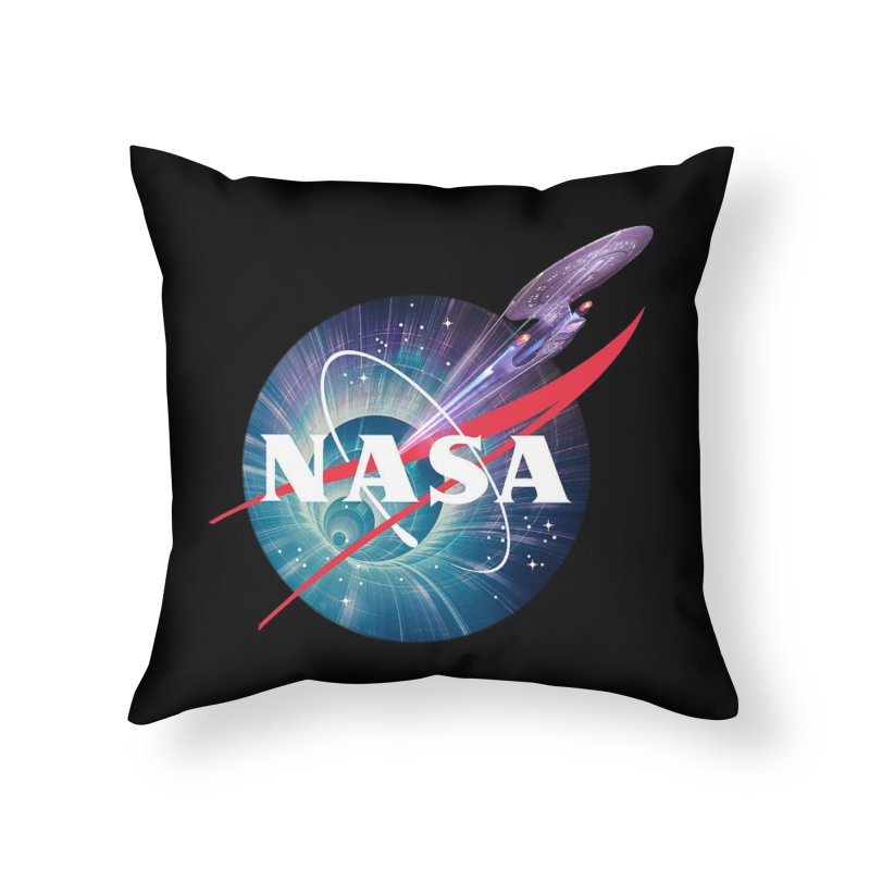 NASA Trek: The Next Generation Home Throw Pillow by To Boldly Merch
