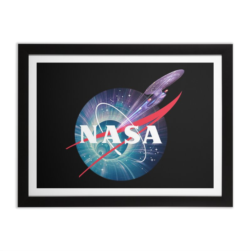 NASA Trek: The Next Generation Home Framed Fine Art Print by To Boldly Merch