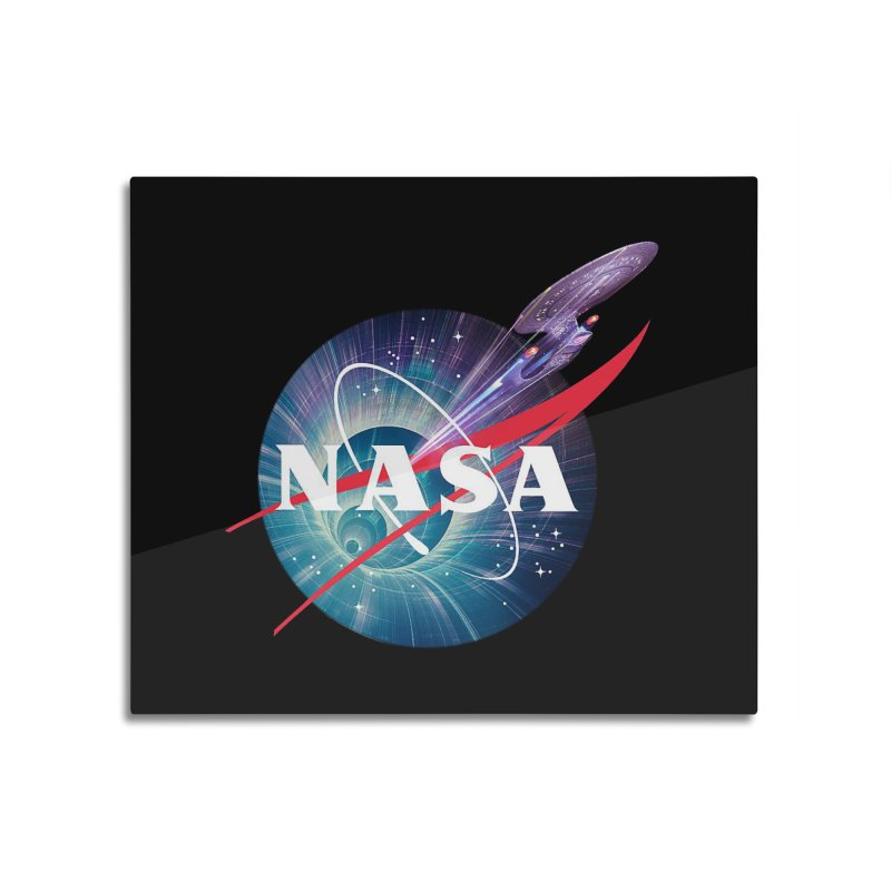 NASA Trek: The Next Generation Home Mounted Aluminum Print by To Boldly Merch