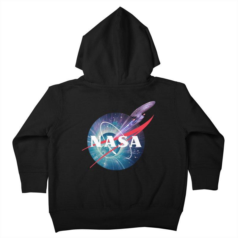 NASA Trek: The Next Generation Kids Toddler Zip-Up Hoody by To Boldly Merch
