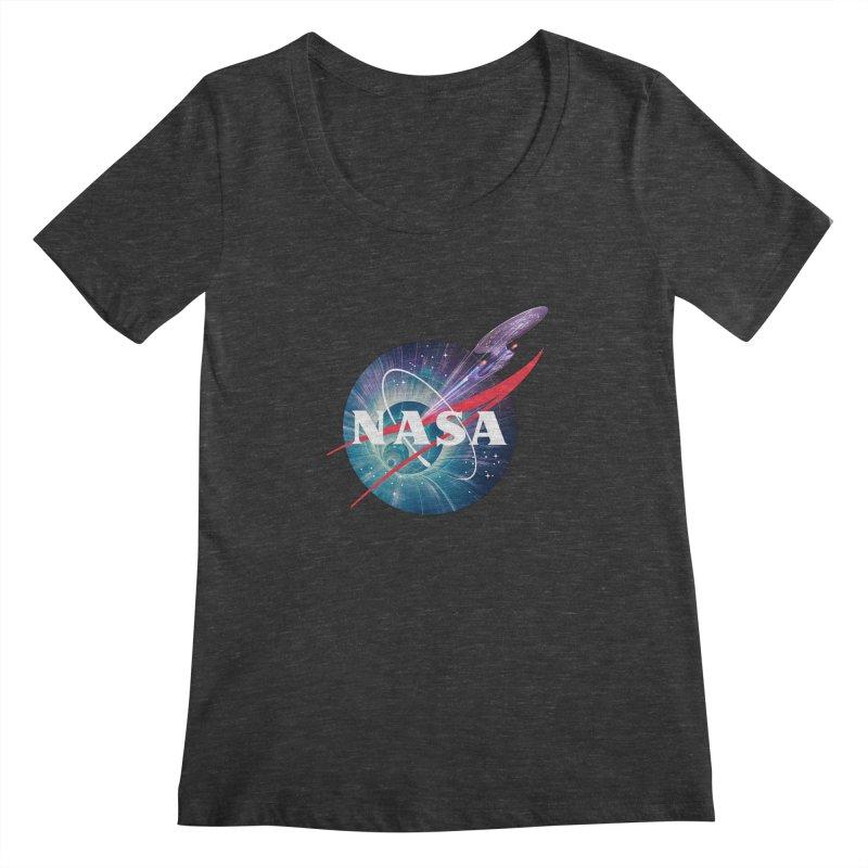 NASA Trek: The Next Generation Women's Scoopneck by To Boldly Merch