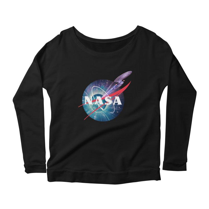 NASA Trek: The Next Generation Women's Longsleeve Scoopneck  by To Boldly Merch