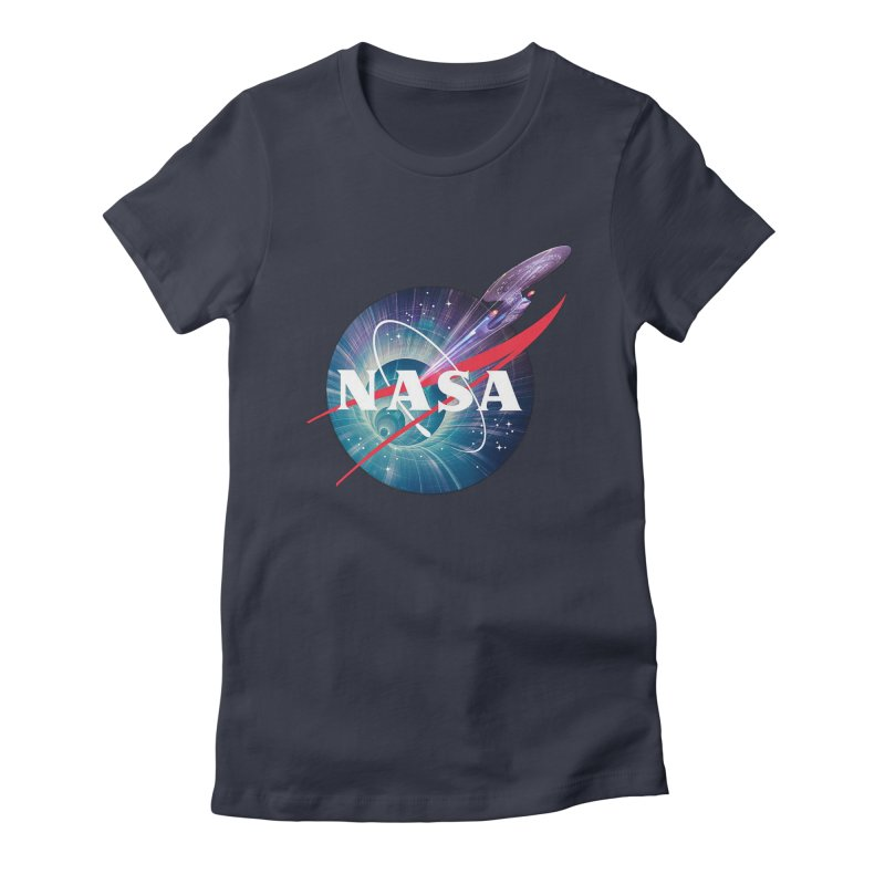 NASA Trek: The Next Generation Women's Fitted T-Shirt by To Boldly Merch