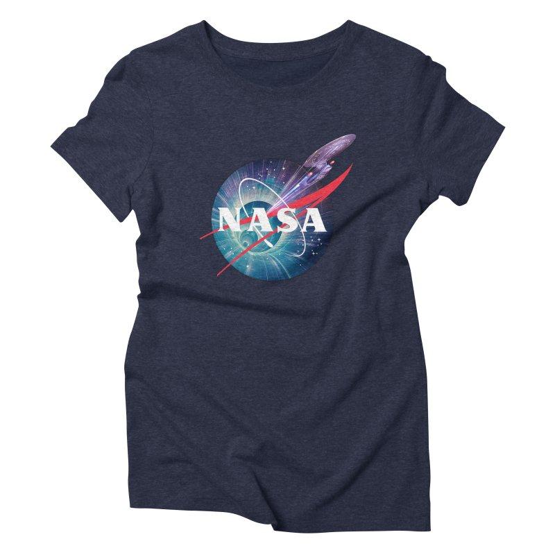 NASA Trek: The Next Generation Women's Triblend T-Shirt by To Boldly Merch