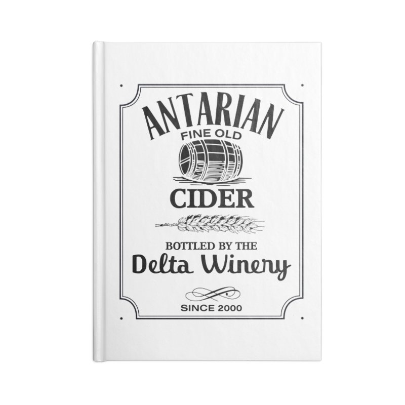 Fine Old Antarian Cider Accessories Notebook by To Boldly Merch