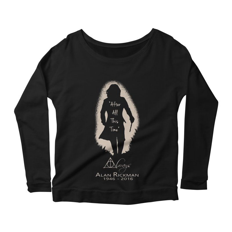 Alan Rickman as Professor Snape Tribute Women's Longsleeve Scoopneck  by To Boldly Merch