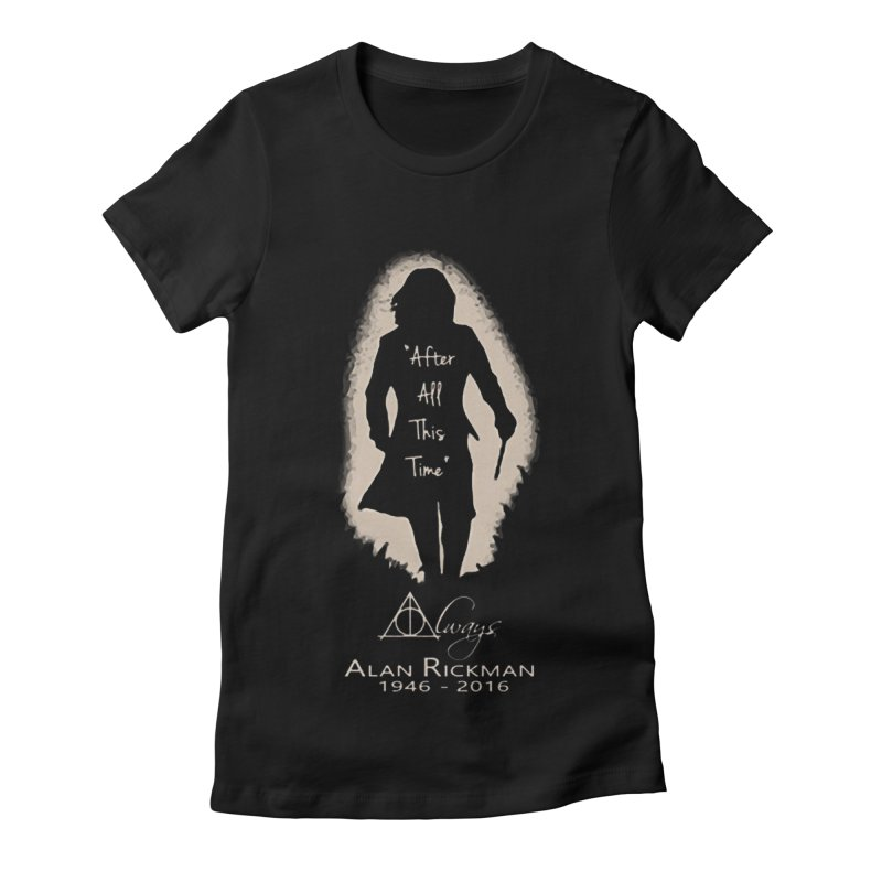 Alan Rickman as Professor Snape Tribute Women's Fitted T-Shirt by To Boldly Merch