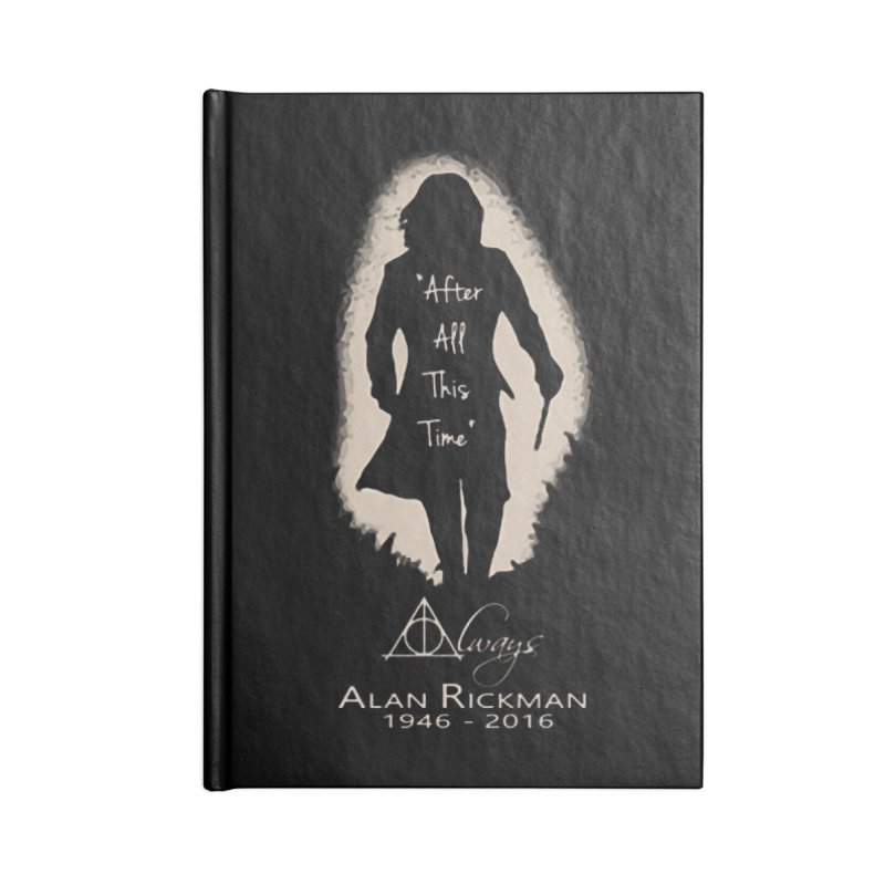 Alan Rickman as Professor Snape Tribute Accessories Notebook by To Boldly Merch