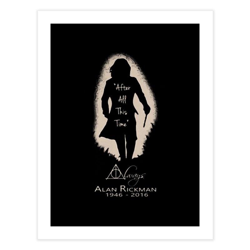 Alan Rickman as Professor Snape Tribute Home Fine Art Print by To Boldly Merch