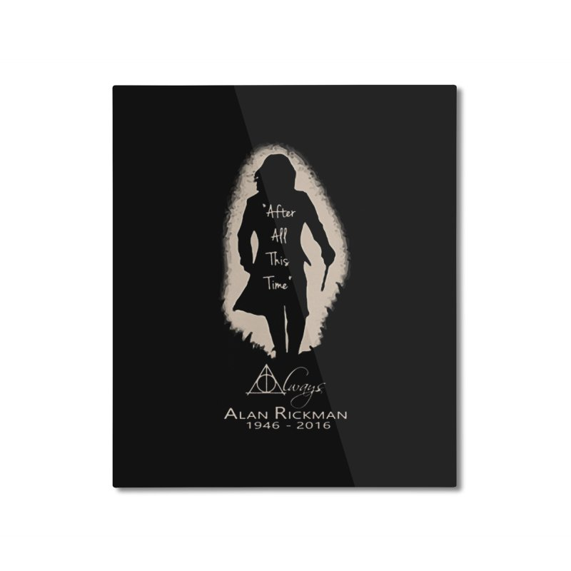 Alan Rickman as Professor Snape Tribute Home Mounted Aluminum Print by To Boldly Merch