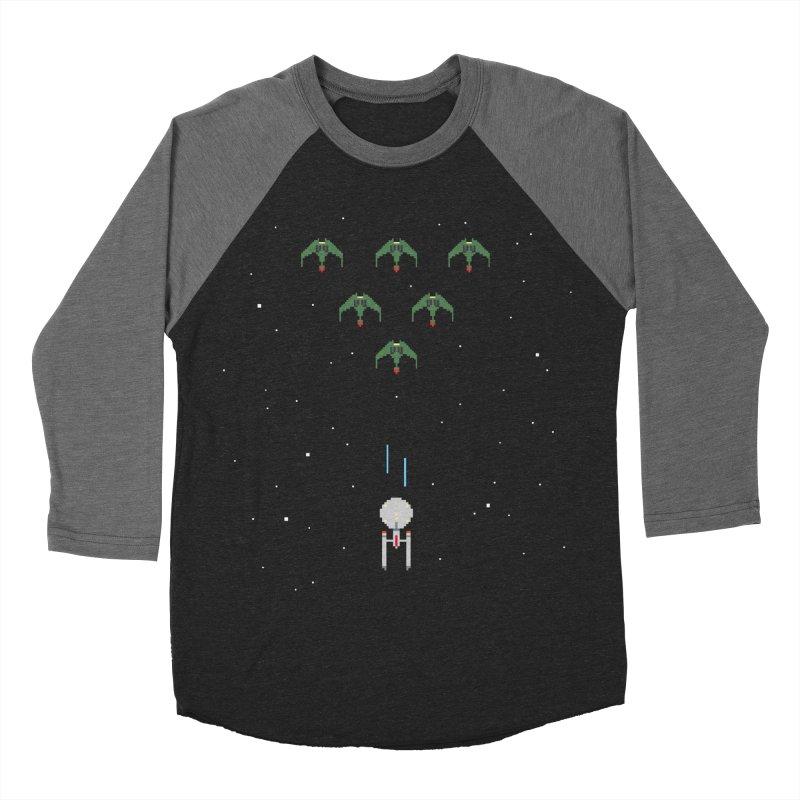 Arcade Trek Men's Baseball Triblend Longsleeve T-Shirt by To Boldly Merch