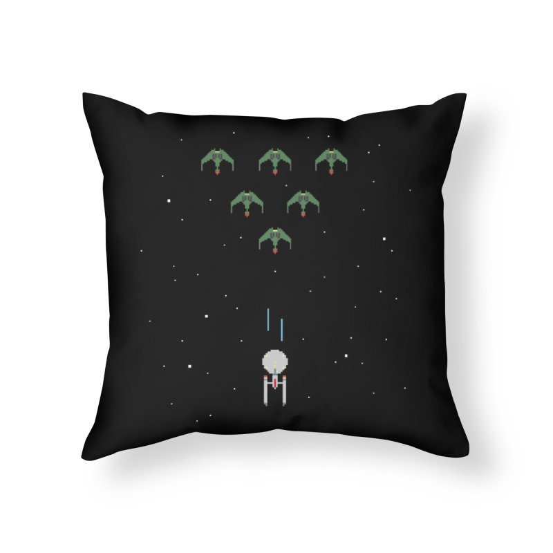 Arcade Trek Home Throw Pillow by To Boldly Merch