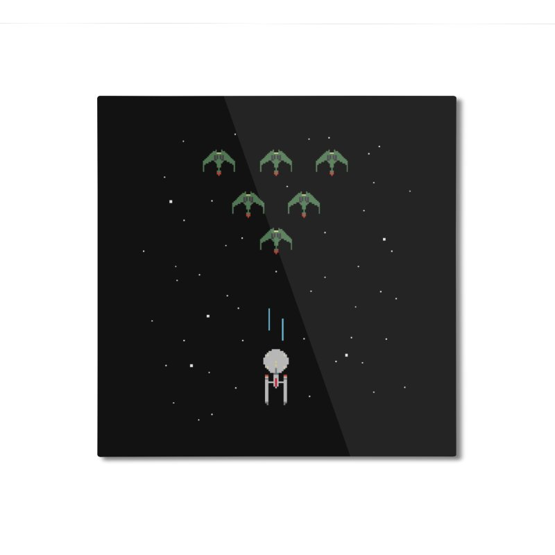 Arcade Trek Home Mounted Aluminum Print by To Boldly Merch