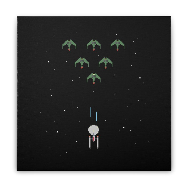Arcade Trek Home Stretched Canvas by To Boldly Merch