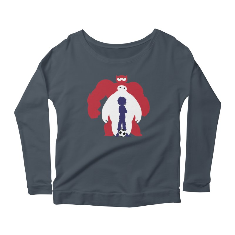 Big Hero Women's Longsleeve Scoopneck  by To Boldly Merch