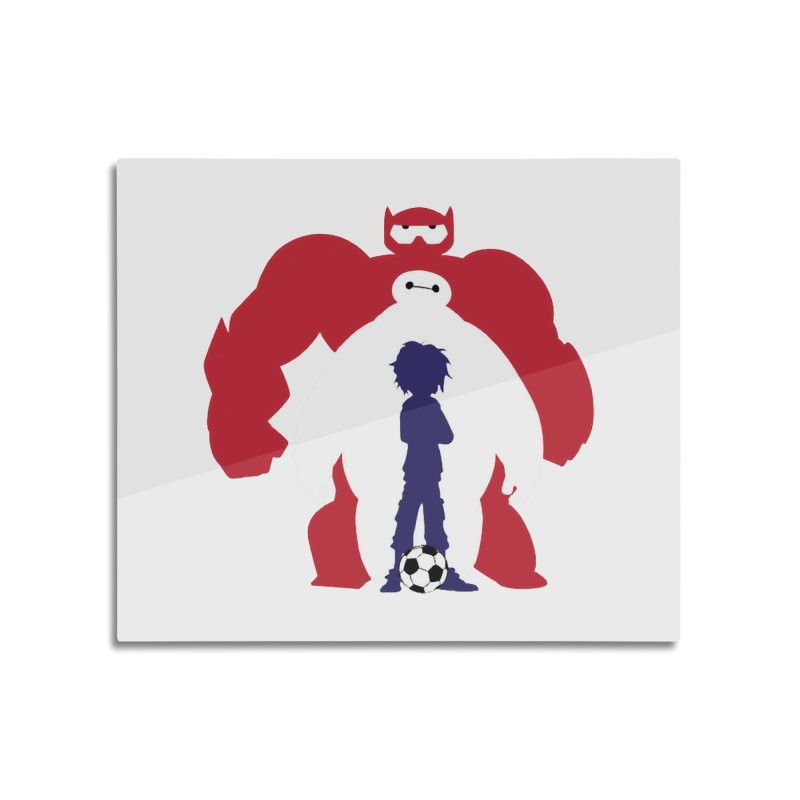 Big Hero Home Mounted Aluminum Print by To Boldly Merch