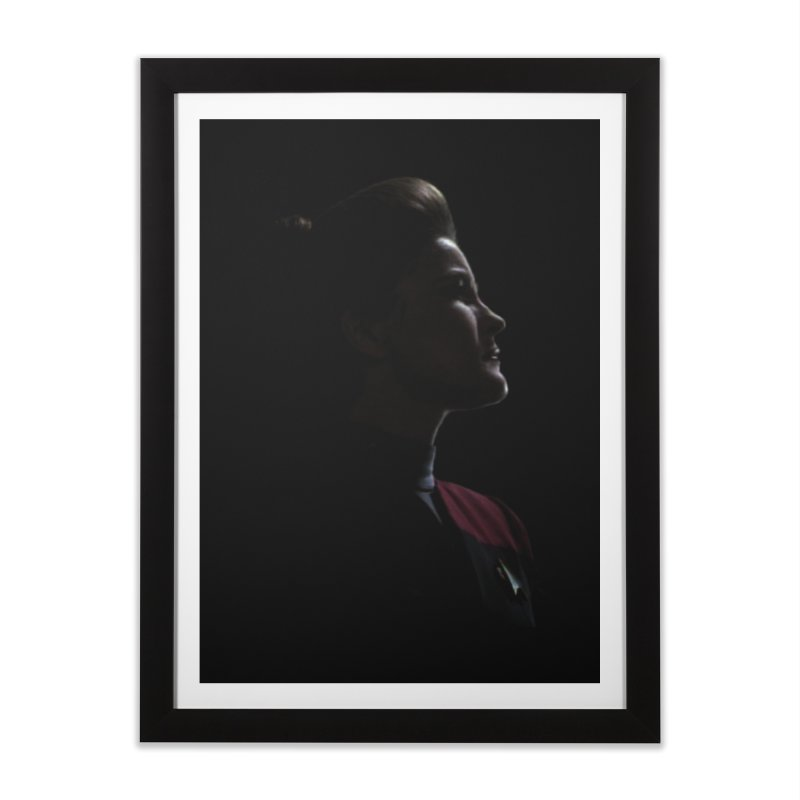 Captain Kathryn Janeway Home Framed Fine Art Print by To Boldly Merch