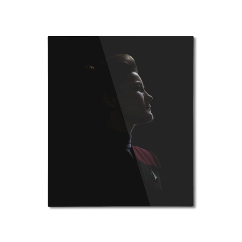 Captain Kathryn Janeway Home Mounted Aluminum Print by To Boldly Merch