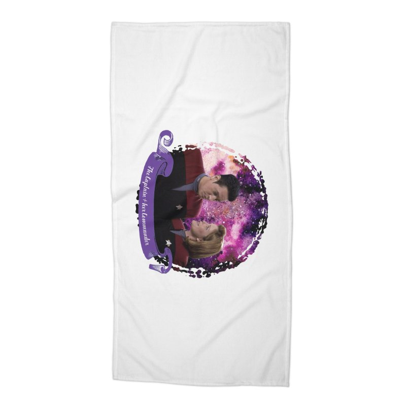 The Captain and her Commander Accessories Beach Towel by To Boldly Merch