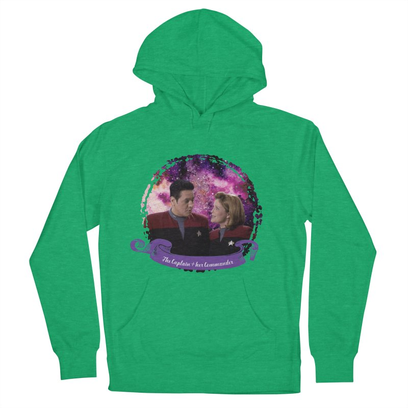 The Captain and her Commander Women's French Terry Pullover Hoody by To Boldly Merch