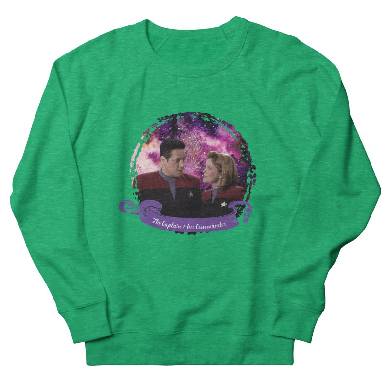 The Captain and her Commander Women's French Terry Sweatshirt by To Boldly Merch