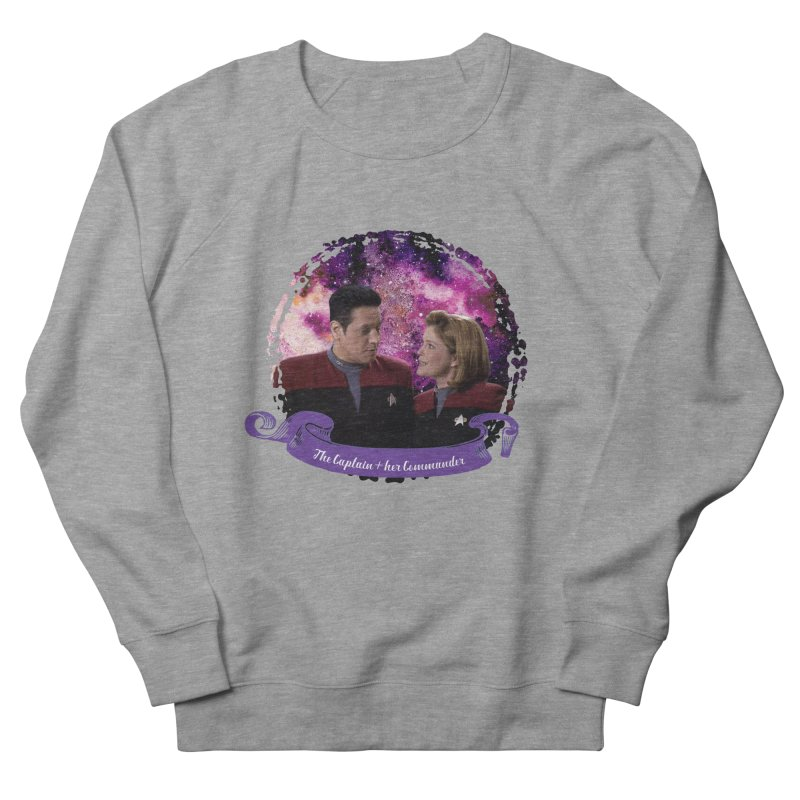 The Captain and her Commander Men's Sweatshirt by To Boldly Merch