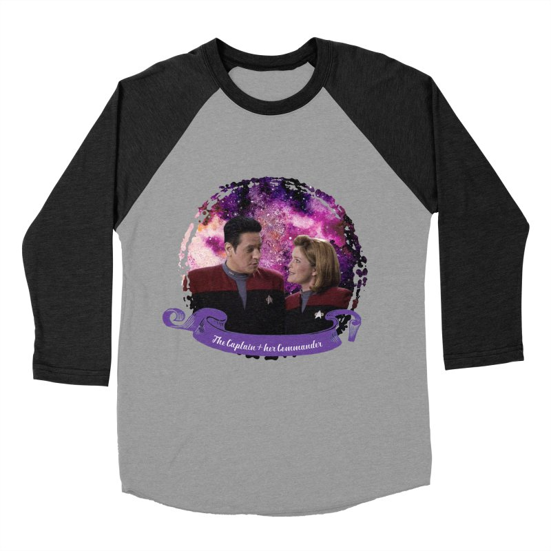 The Captain and her Commander Women's Baseball Triblend Longsleeve T-Shirt by To Boldly Merch