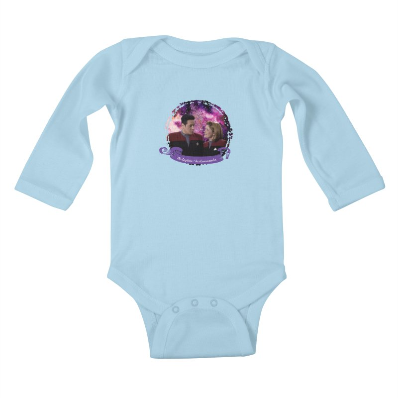 The Captain and her Commander Kids Baby Longsleeve Bodysuit by To Boldly Merch