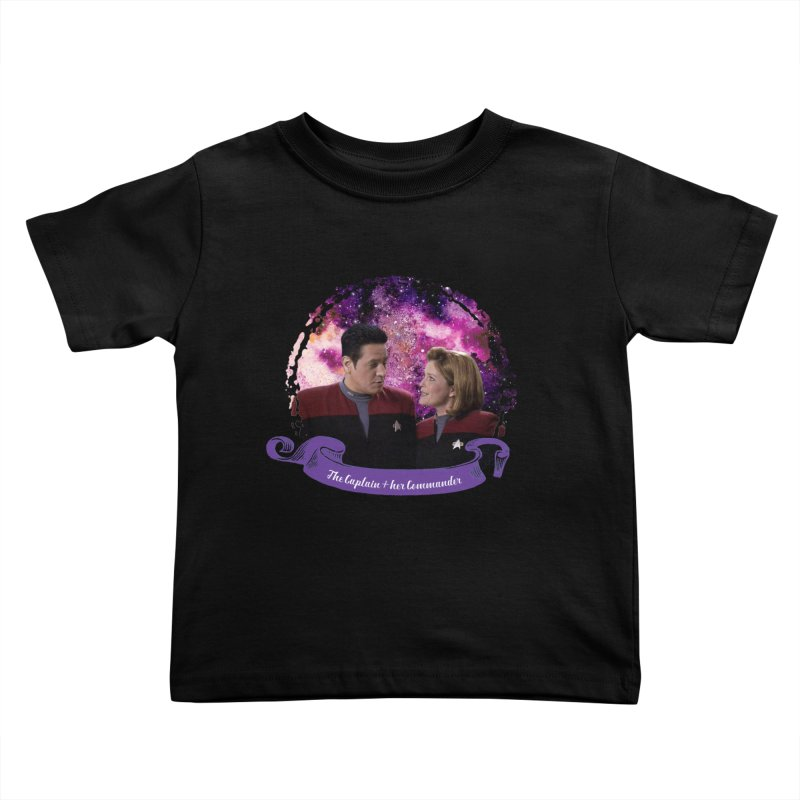 The Captain and her Commander Kids Toddler T-Shirt by To Boldly Merch