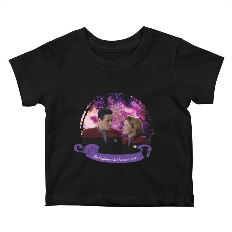 The Captain and her Commander Kids Baby T-Shirt by To Boldly Merch