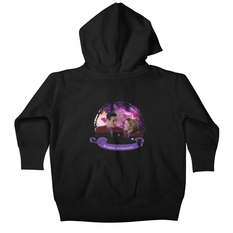 The Captain and her Commander Kids Baby Zip-Up Hoody by To Boldly Merch
